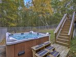 Witness the beauty of the Poconos when you stay at this 3-bedroom, 2.5- bathroom vacation rental house in Bushkill.