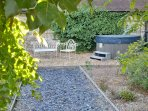 Private walled garden and hot tub, just for you!