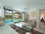 Pool house with Murphy bed