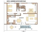 Garden Suite #2 Floorplan