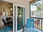 Dining Area Leads to Screened Balcony