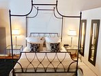 Comfy four poster bed