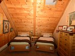 twin beds in loft
