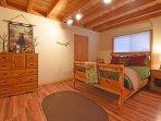 The Mallard Room - downstairs guest bedroom with queen bed, en suite bathroom