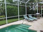 Alternate Pool View/Lounge Seating/BBQ Grill