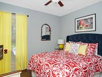 1st floor Snow White bedroom, queen bed, 43' Smart HDTV, overlooks private pool