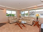 Living Area with Comfortable Leather Seating
