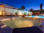 Illuminated garden and pool allows you to enjoy the facilities day and night.