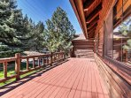 An expansive front deck welcomes you to your home-away-from-home.