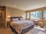 There are 2 master suites in the home, offering king beds.