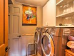 Laundry machines are provided for your convenience.