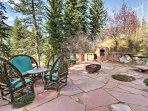 Spend sunny days on one of the furnished patios.