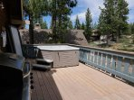 Deck with Hot Tub and Grill