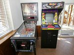 Pinball and Pacman!  Game Room