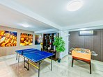 Game room. Ping pong