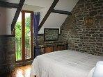 Double bedroom with window over garden