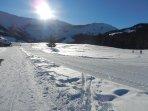 Les pistes de skis de font