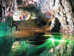 The famous Wookey Hole Caves, 10 mins drive from Wells.