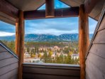 View from Private Lookout (Eagles' Nest)  in King Master Suite Upstairs