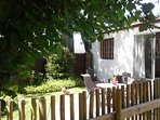 Cottage with private enclosed garden and barbecue. Secure on site undercover parking. DSTV and WiFi