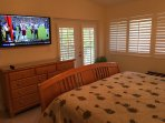 Master W/Awesome 55' HDTV and Direct Patio Access