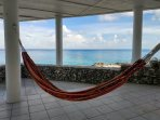Hammock time, in the shade under the main patio. The perfect spot to read a book or just snooze away