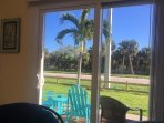 View from living room.  Look at Fort Pierce Inlet State Park on A1A