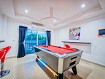 air-conditioned Pool and Game room