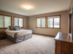 Large master bedroom w water views
