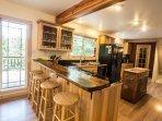 Bar area at kitchen