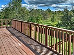 Spend your days enjoying the views off the spacious deck.