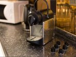 NESPRESSO machine! In your welcome package you will find capsules. If you need more - We can! Coffee