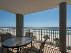 Private balcony with a beautiful view of the gulf of Mexico.  Great location  - 4th floor!