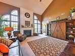 The nearly 3,800-square-foot interior is well-appointed, accommodating up to 8 guests comfortably.