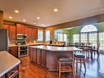 The open floor plan makes it easy to mingle with loved ones.