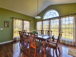 Set the 8-person dining table to share your family feasts.