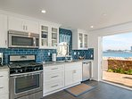 Kitchen with Bay View