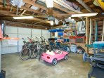Garage with every toy you could possible want for the beach
