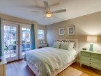 Queen Bedroom with access to Patio