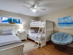 Bunk Bedroom with 1 double and 2 twins