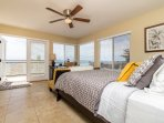 Queen Bedroom opening to large ocean view deck