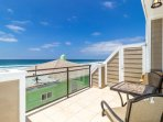 Ocean view 3rd floor balcony with access to big balcony with BBQ and table for 10