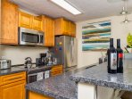 Lower unit kitchen, newly remodeled