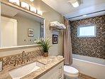 Ground floor: Bath with shower/tub