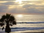 Enjoy sunsets from the house or from the boardwalk just steps away