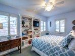 2nd floor Queen bedroom with TV