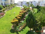 Complex set in beautiful landscaped gardens, view from the balcony,