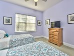 Twin Bedroom With Flat Screen TV; Fan;