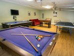 Game room!  Pool, air hockey, ping pong!