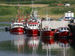 Beautiful Uig Bay & Harbour is a 15 minute drive. Sight-seeing & fishing trips run daily.